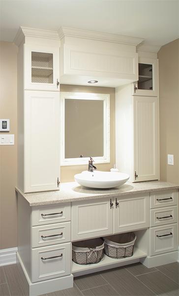 Salles de bain chaleureuses / Les Cuisines Linda Goulet